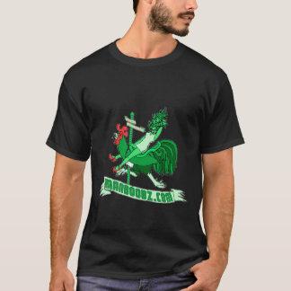 T-shirt mau do carrossel do menino (verde e camiseta