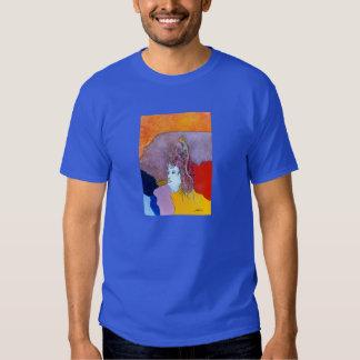 T-shirt metílico das cores escuras de Simmonds