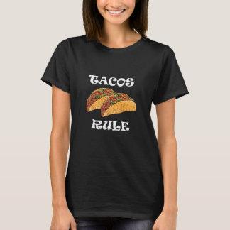 T-shirt mexicano gráfico da regra do Tacos Camiseta