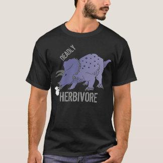 T-shirt MORTAL do Triceratops do HERBÍVORO Camiseta