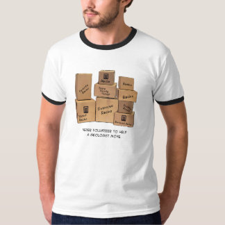 T-shirt movente do humor do geólogo camiseta