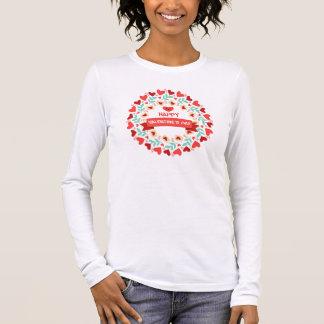 T - shirt Mulher Santo Valentin Camiseta Manga Longa