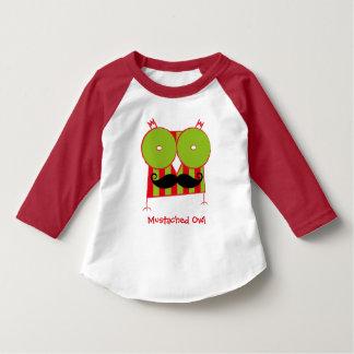T-shirt Mustached personalizado do Raglan da luva