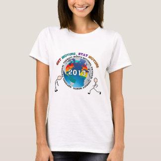 T-shirt nacionais 2013 do mês da fisioterapia camiseta