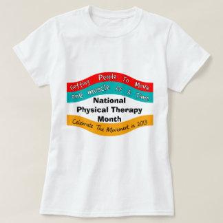 T-shirt nacionais 2013 do mês da fisioterapia II Camiseta
