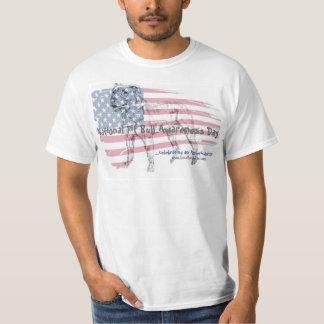 T-shirt nacional do dia da consciência do pitbull camiseta