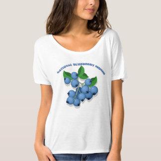 T-shirt nacional do mês do mirtilo camiseta
