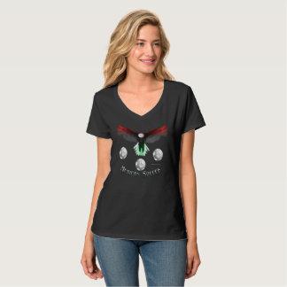 T-shirt Nano do V-Pescoço das senhoras mexicanas Camiseta