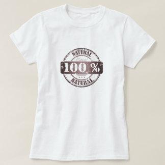 T-shirt natural de 100%