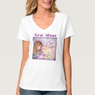 T-shirt novo da mamã camiseta