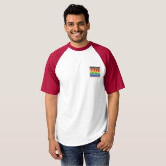 T-shirt novo do basebol do logotipo do arco-íris camiseta