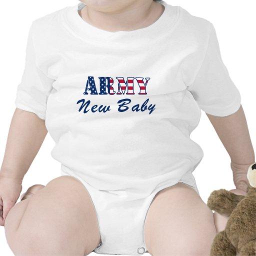 T-shirt novo do bebê do exército