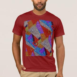 T-shirt óptico do pop art do abstrato da relação camiseta