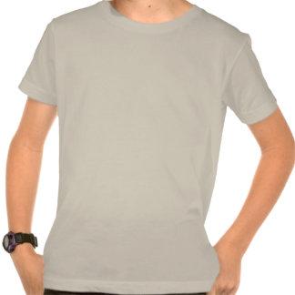 T-shirt orgânico do roupa americano do miúdo de Ha