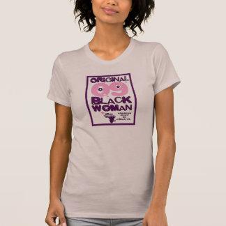 T-shirt original das mulheres negras da cor malva