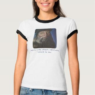 T-shirt original do retrato de Leonardo da Vinci Camiseta