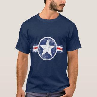 T-shirt patriótico da estrela do vintage do corpo camiseta