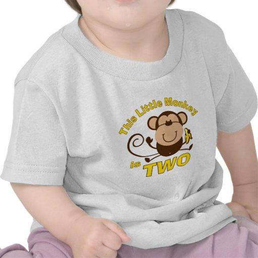 T-shirt pequeno da criança do menino do segundo an