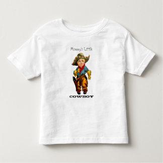 T-shirt pequeno da criança do vaqueiro da mamã
