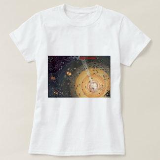 T-shirt pequeno das senhoras, colonização da camiseta