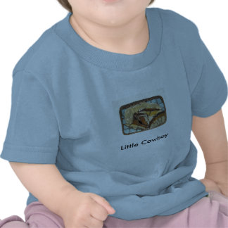 T-shirt pequeno do bebê do cavalo do vaqueiro