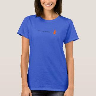 T-shirt pequeno do logotipo do escape do coelho