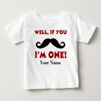 T-shirt personalizado bigode do primeiro camiseta para bebê