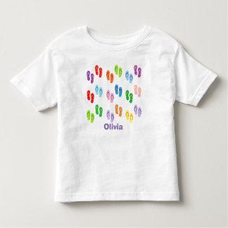 """T-shirt personalizado da criança dos """"chinelos"""" camiseta infantil"""