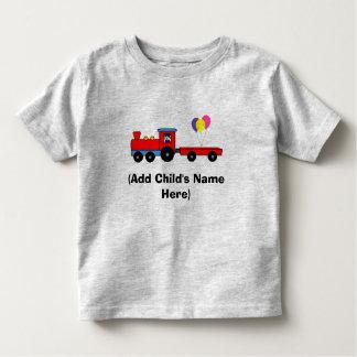 T-shirt personalizado do aniversário do trem camiseta infantil