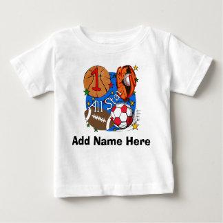 T-shirt personalizado do primeiro aniversario de camiseta para bebê