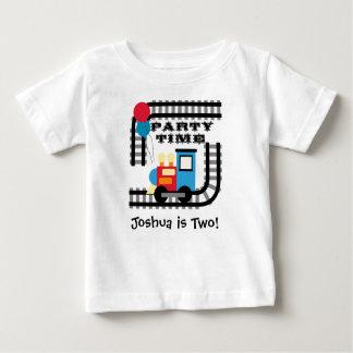 T-shirt personalizado do trem do tempo do partido