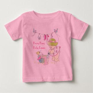 T-shirt personalizado ocupado do bebê de Beary Camiseta Para Bebê