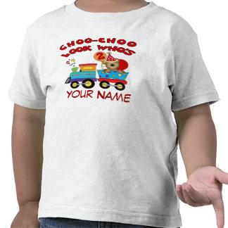 T-shirt personalizado trem do urso do segundo