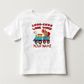 T-shirt personalizado trem do urso do segundo camiseta infantil