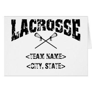 T-shirt personalizados do Lacrosse do estado Cartão Comemorativo