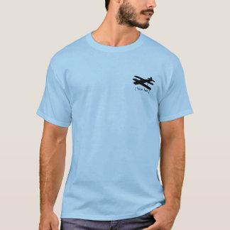 T-shirt piloto do biplano