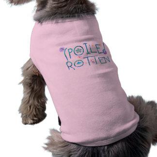 T-shirt podre estragado do animal de estimação camisa sem mangas para cachorro
