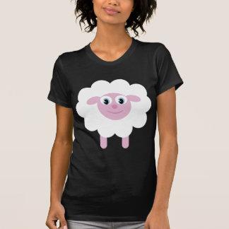 T-shirt preto & branco dos carneiros bonitos dos camiseta