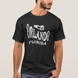 T-shirt preto de Orlando Florida Camiseta