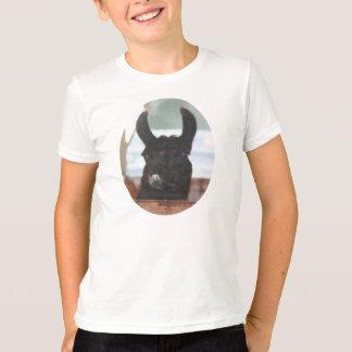 T-shirt preto do animal de fazenda da cara do lama camiseta