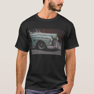 T-shirt preto do carro vintage camiseta
