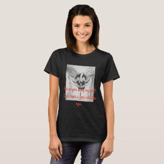t-shirt preto do Dia das Bruxas, crânio da aranha Camiseta