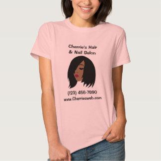 T-shirt preto do salão de beleza - customizável