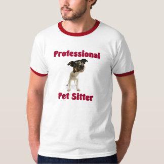T-shirt profissional do baby-sitter do animal de