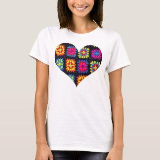 T-shirt quadrado da avó - t-shirt do Crochet do Camiseta