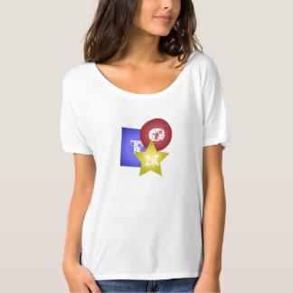 T-shirt quadrado de T Camiseta