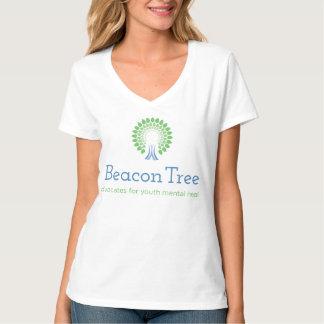 T-shirt relaxado da árvore da baliza das mulheres