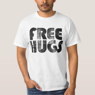 T-shirt retro bonito do anos 80 dos abraços livres camiseta