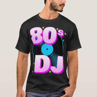 T-shirt retro do tigre 80s 80s DJ de Corey Camiseta