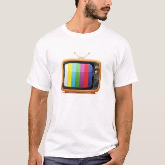 T-shirt retro velho da televisão camiseta